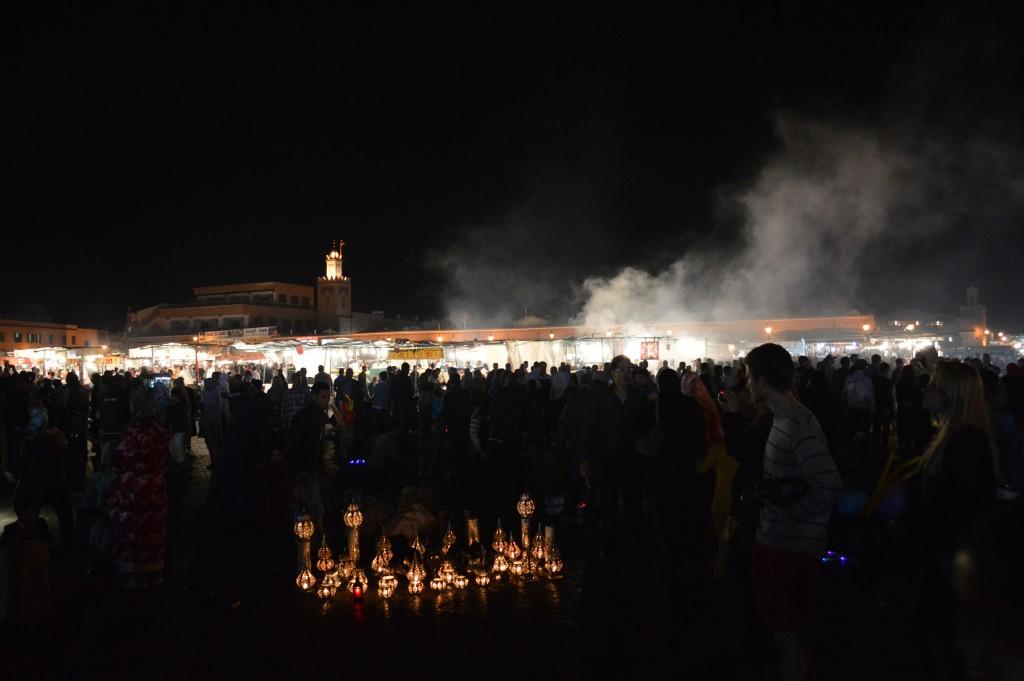 Djemaa el Fna markt avond